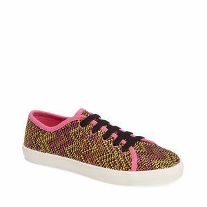 NWT Sam Edelman Naomi pink multi sneakers shoes 5